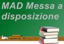 Termine di accettazione domande di messa a disposizione (MAD) a.s. 2020/2021